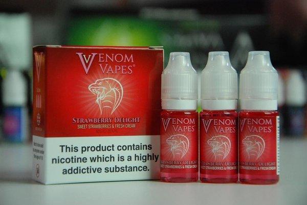 Strawberry Delight Venom Vapes 3 x 10ml 80/20 E-Liquid
