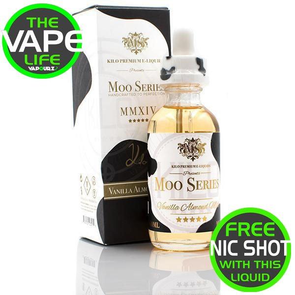 Kilo Moo Series Vanilla Almond Milk + Free Nic Shot