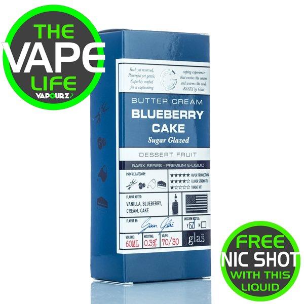 Glas Basix Blueberry Cake 50ml + 10ml Nic Shot Free