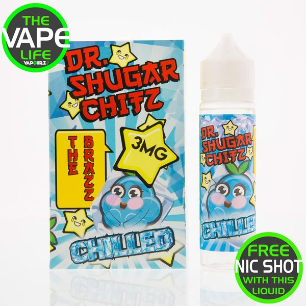Dr Shugar Chitz The Brazz Chilled 50ml +10ml Nic Shot Free