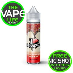 I VG Desserts Strawberry Pastry 50ml + 10ml Nic Shot Free