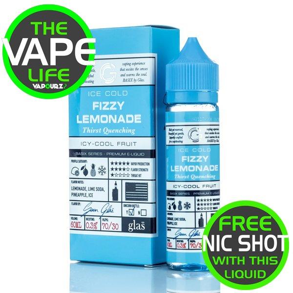 Glas Basix Fizzy Lemonade 50ml + 10ML Nic Shot Free