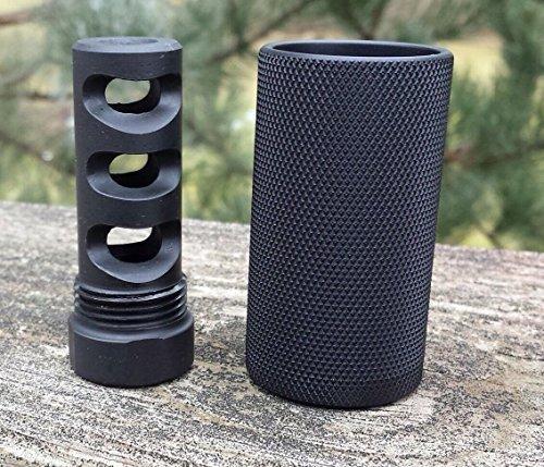 1/2x28 Aluminum Filter Thread Adapter Cone Muzzle Brake Cover to 3/4x16