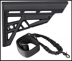 ATI AR, TactLite Com-Stock, Black + Ultimate Arms Gear Black Shoulder Harness