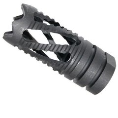 9mm 1/2x36 USA Made Tactical Black Oxide Finished Steel Twist Brake Break Device For Standard 7.62x39 & 9 mm Rifle 1/2 x 36 Threads RH Right Hand