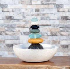 Seven Tier Stone and Glass Fountain