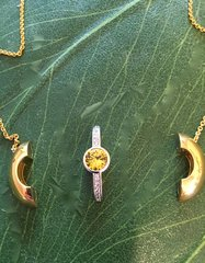 EV1 Collection- Golden Colored Stone Insert