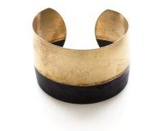 Brass and Oxidized Brass Bracelet