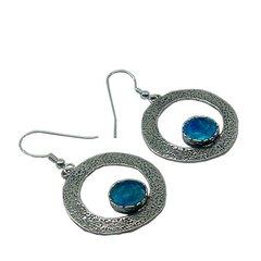 Ancient Roman Glass Hoop Earrings