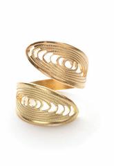 Adjustable Brass Ring-Gyro Design