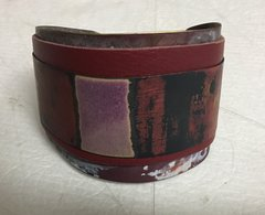 Hand Hammered and Patinated Brass Cuff by Sibilia