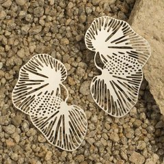 """Alluvial"" Post Earrings-Silver Plated Stainless Steel"