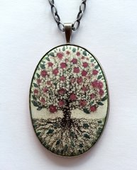 "Enameled ""Tree of Life"" Necklace"