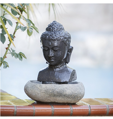 Zen Buddha Head Fountain