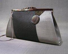 Stainless Steel Mesh Handbags by BO's Art- Amelia Black Moire