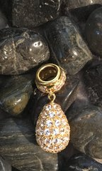 Circle of Love Collection-Gold Plated White Sapphire Pave Charm