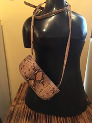 Snake Skin Patterned Hand Bag by HOBO