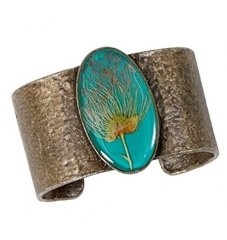 Apache Plume on Turquoise Cuff