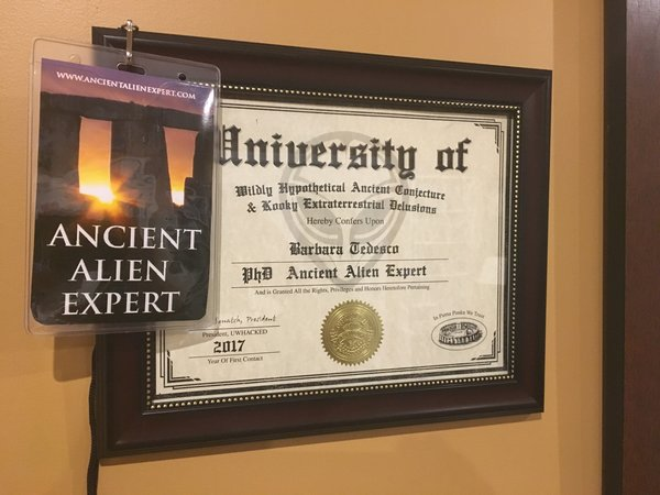ancient alien experts com fantasy diploma of your choice and i d hangtag combo