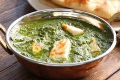 Palak-Paneer, Rice & Paratha