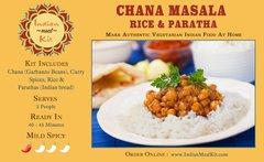Chana Masala, Rice & Paratha - 2 Person