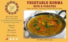 Vegetable Korma, Rice & Paratha - 2 Person