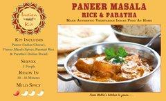 Paneer Masala, Cumin Rice & Paratha - 2 Person