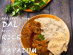Lentil Soup Dal & Rice