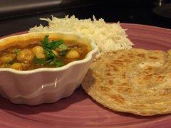 Chana Masala, Rice & Paratha - 4 Person