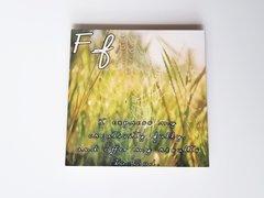 Letter 'F' Metal Coaster
