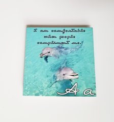 Letter 'A' Metal Coaster