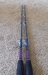 "Qty 1 Baja Slammer Fishing Rod 5'6"" 40-100lb Tuna & Big Game Trolling Rod New"