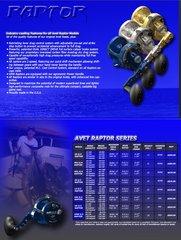 AVET JX 6/3 MC RAPTOR 2-SPEED LEFT HAND