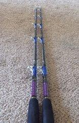 "Qty 2 Baja Slammer Fishing Rod 5'6"" 40-100lb Tuna & Big Game Trolling Rod New"
