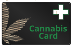 'BLACK SERIES' METAL CANNABIS CARD