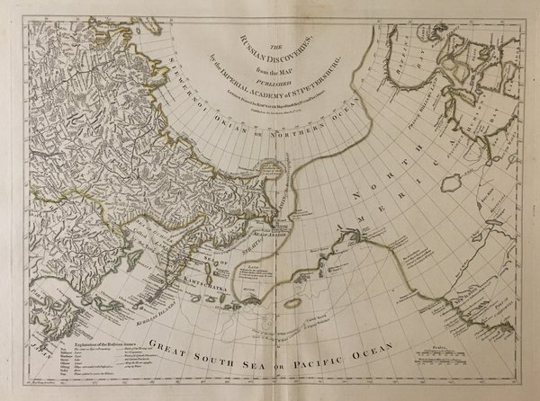 The Russian Discoveries, from the Map Published by the Imperial Academy of St-Petersburg.