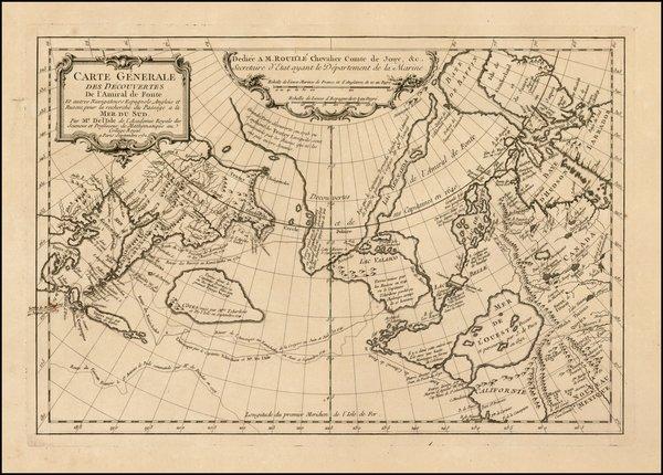 Carte Generale des Decouvertes De l'Amiral de Fonte Et Autres Navigateurs Espagnoles, Anglois et Russes, pour la recherche du Passage a la Mer du Sud . . . Septembre 1752.