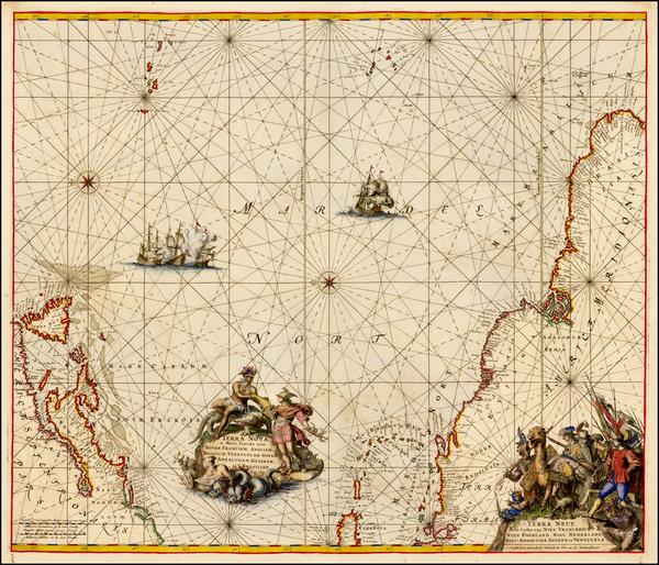 Terra Nova ac Maris Tractus circa Novam Franciam, Angliam, Belgium, Venezuelam, Novam Andalusiam, Guianam, et Brasiliam