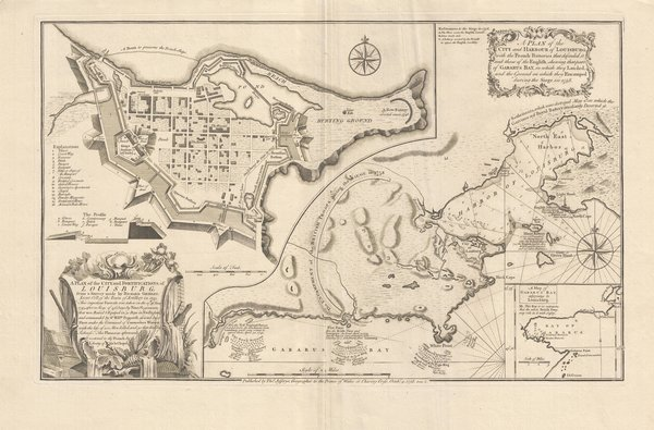 A Plan of the City and Harbour of Louisburg with the French Batteries...
