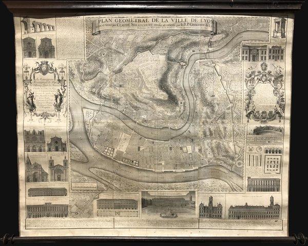 Plan Géometral de la Ville de Lyon.