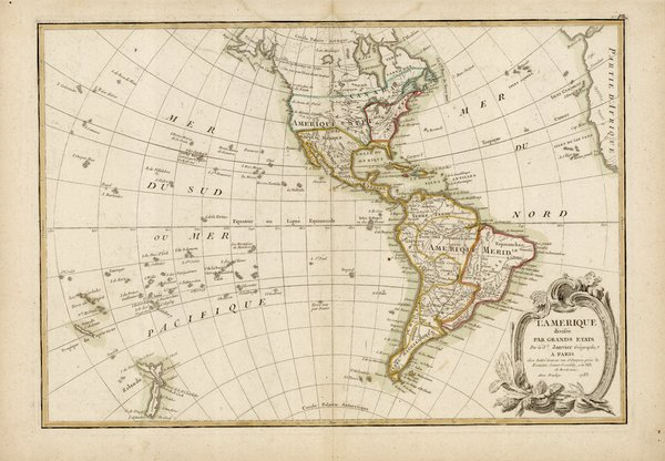 L'amérique divisee par grands Etats par le Sr. Janvier Geographe.