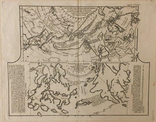 Carte des Nouvelles Découvertes. Extrait d'une carte Japonaise de l'univers...