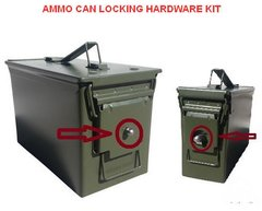 Ammo Can Locking Hardware Kit