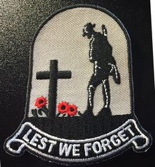 LEST WE FORGET Remembrance Velcro Backed Patch