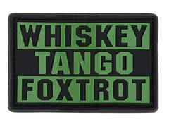 Whiskey Tango Foxtrot PVC Patch