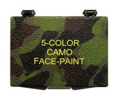 Five Color Bark Camouflage Face Paint Compact