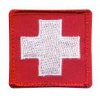 White Cross Red Morale Patch