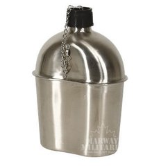 WWII Style Stainless Steel Canteen