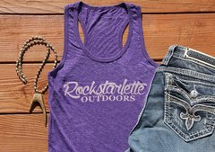 Logo Tank Top, Heathered Purple, NEW! Rockstarlette Outdoors