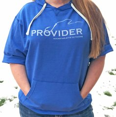 PROVIDER™ Fishing Logo Short Sleeve Hoodie, NEW